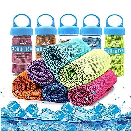Ice Cold sudore asciugamano doppio super morbido assorbente microfibre progettato palestra rapida asciugatura asciugamano Instant Cool Ice for Instant Cooling Relief Ruimin