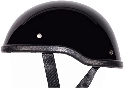 Low Profile Novelty Harley Cruiser Helmet Beanie Skull Cap Flat Black