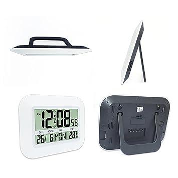 LCD digital de reloj de pared digital del reloj del escritorio silencioso con pilas grande Jumbo