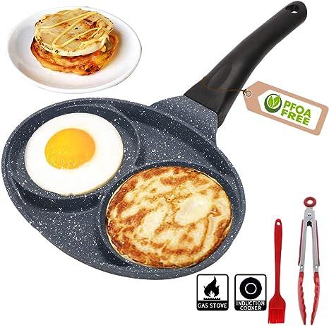 Nonestick Egg Pan Divided Frying Pan Aluminium Alloy Fried Egg ...