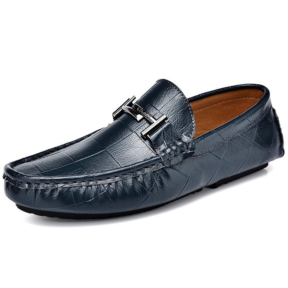 Männer Männer Männer - mode casual schuhen, britische casual schuhen, erbsen, puffbohnen, schuhe, leder, schuhe für männer faul,blau,40 00f8fa