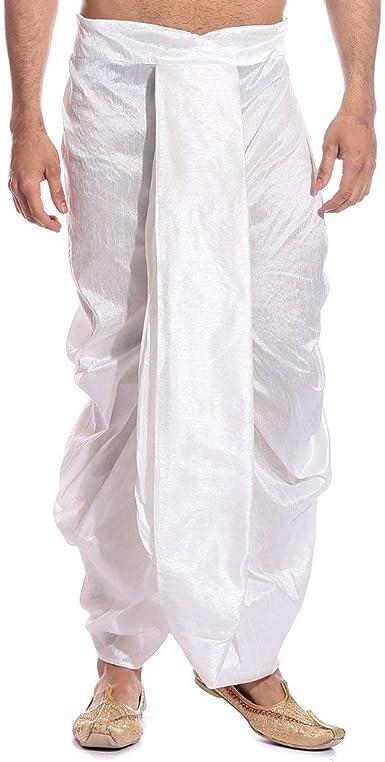 Royal Kurta Mens Tag 7 Silk Blend Dhotis Free Size