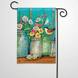 BYRON HOYLE Just Picked Garden Flag Decorative Holiday Seasonal Outdoor Weather Resistant Double Sided Print Farmhouse Flag Yard Patio Lawn Garden Decoration 12 x 18 Inch224683