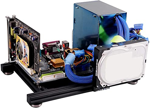Caja de marco abierto de bricolaje, carcasa de PC de computadora de aleación de aluminio de