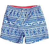 WUAMBO Men's Sports Runnning Swim Board Shorts With Pocket,Mesh Lining