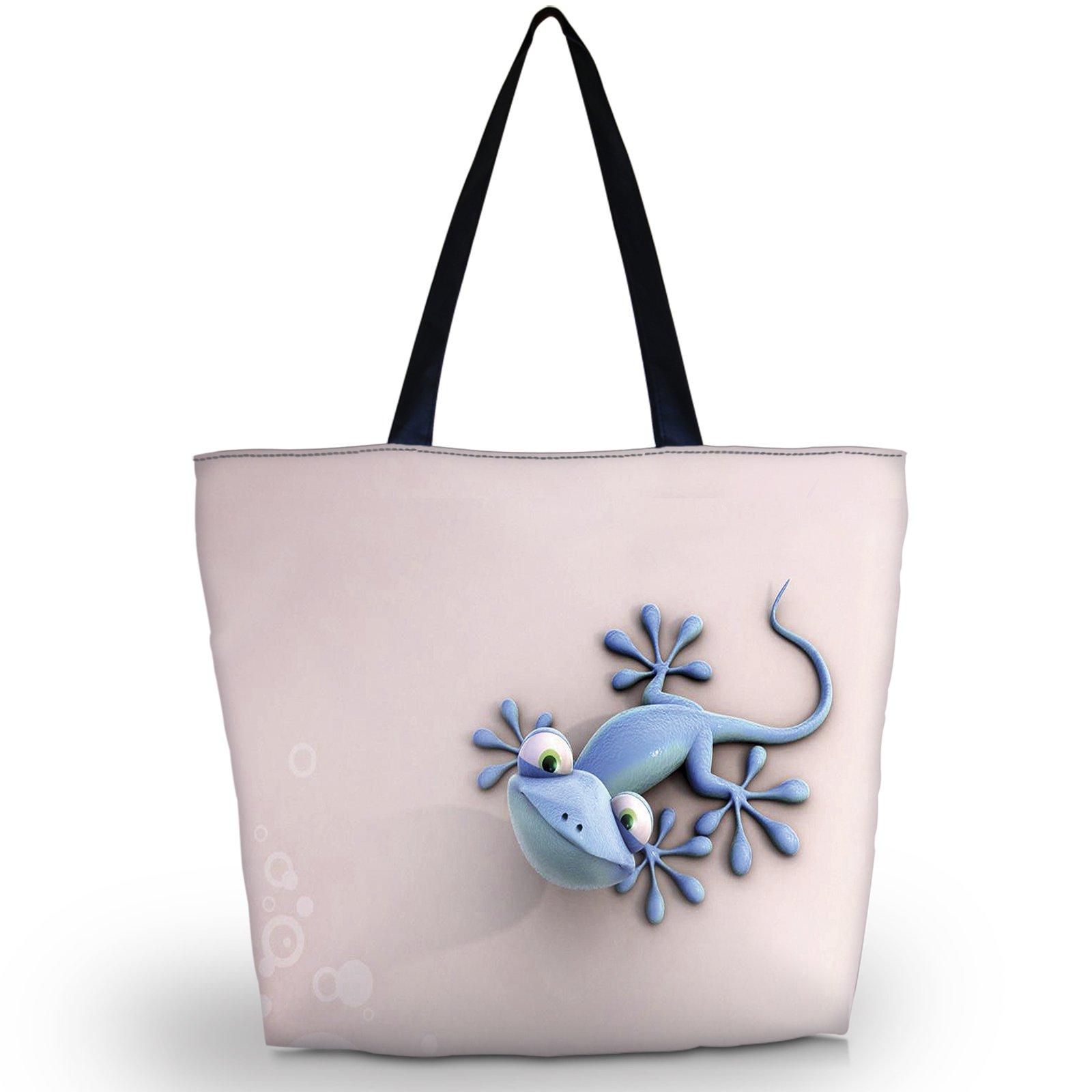 Newplenty Ladies Zippered Light Shoulder Shopping Tote Bag Handbag Beach Satchel (SB-6006) by newplenty (Image #1)