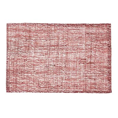 LinenTablecloth Shimmer Burlap Placemats Rosewood 2/Pack - Placemats sold in Packs of 2 Woven tinsel for extra embellishment Stiffened burlap for durability - placemats, kitchen-dining-room-table-linens, kitchen-dining-room - 61z0RtVSpxL. SS400  -