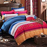 FADFAY Luxury Bohemian Style Duvet Cover Bedding Sets 4-Piece Queen Size