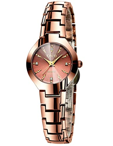 8ee3163ab CIVO Women Watches Ladies Waterproof Stainless Steel Minimalist Luxury  Analogue Quartz Rose Gold Wrist Watch Dress Elegant Fashion Casual Classic  Simple ...