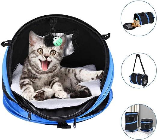YOUTHINK Transporte Gato de Bolsas Portador de Gato Plegable con Tapete Juguete, Cama de Gato Túnel de Gato 3 en 1 Transportador de Mascotas: Amazon.es: Productos para mascotas