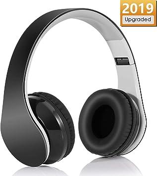 Auriculares Inalámbrico Diadema, Bluetooth 4.1 Plegable Hi-Fi Estéreo Con 3.5 mm Audio Jack Con Micro Para Smartphone Y Tableta(Negro): Amazon.es: Electrónica