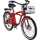Newport Beach Cruiser Electric Bicycle - Red by X-treme Bike