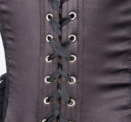 Kleid Schwarz Poque 1 Lang Damen Belle Corsagenkleid Steampunk Kleid Gothic schwarz Bp353 OEwZ1x60