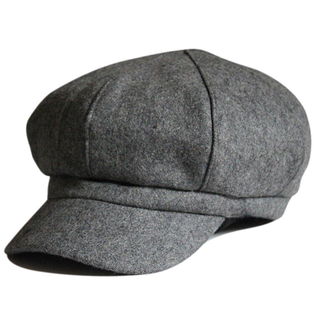 Women's Wool Fedora Newsboy Hat Winter Cloth Cap Outdoor Heat