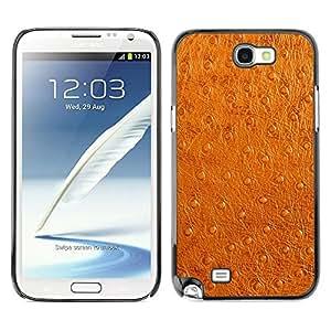 TECHCASE**Cubierta de la caja de protección la piel dura para el ** Samsung Galaxy Note 2 N7100 ** Leather Imitation Brown Faux Skin Fabric Art
