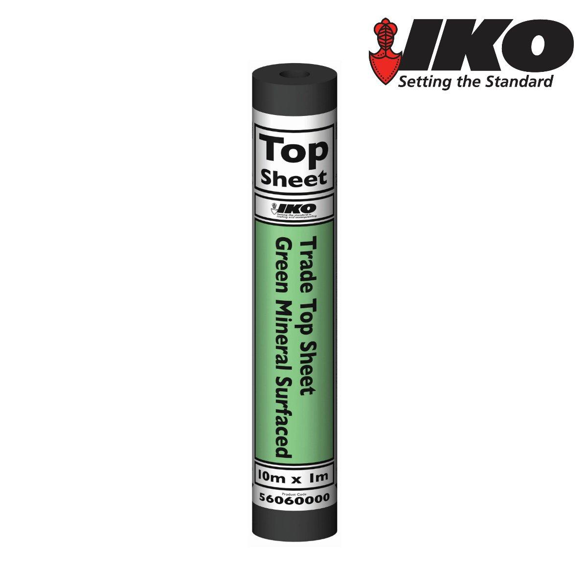 IKO Trade Top Sheet   Green 10m x 1m   Garden Roofing Shed Felt Bitumen Roof