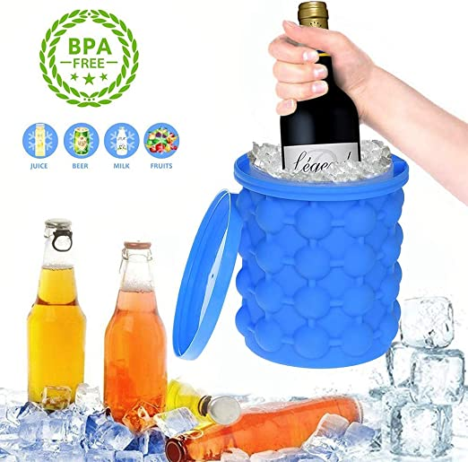 Amazon.com: BZVTT Ice Buckets Cube Moulds Silicone Ice Bucket with ...
