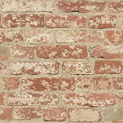 Stuccoed Brick Repositionable and Removable Peel and Stick Wallpaper