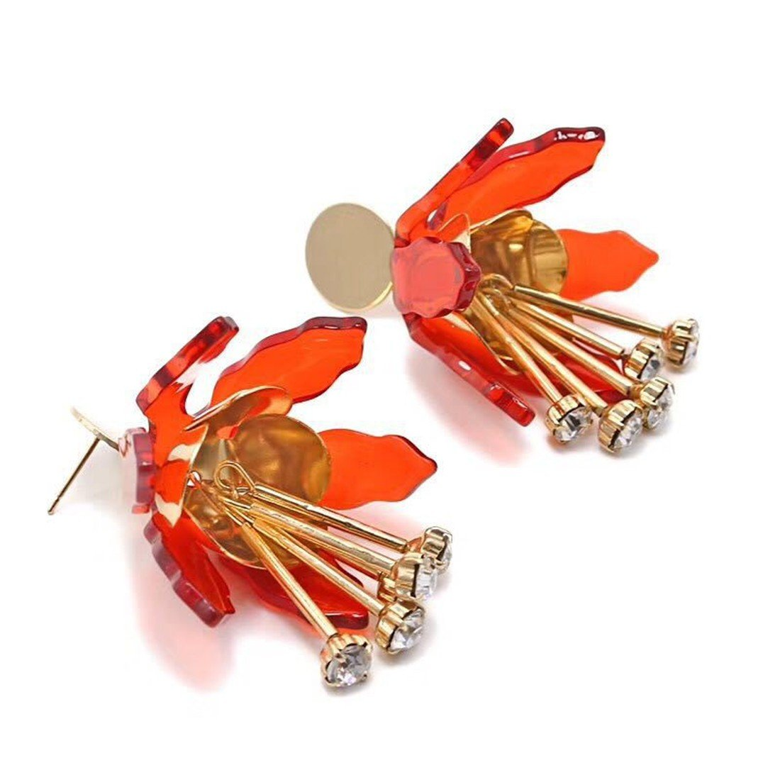 acrylic ear studs color flowers ball earrings|clip on earrings|ear cuffs|dangle earrings|earring jackets|hoop earrings|stud earrings|Womens fashion earrings
