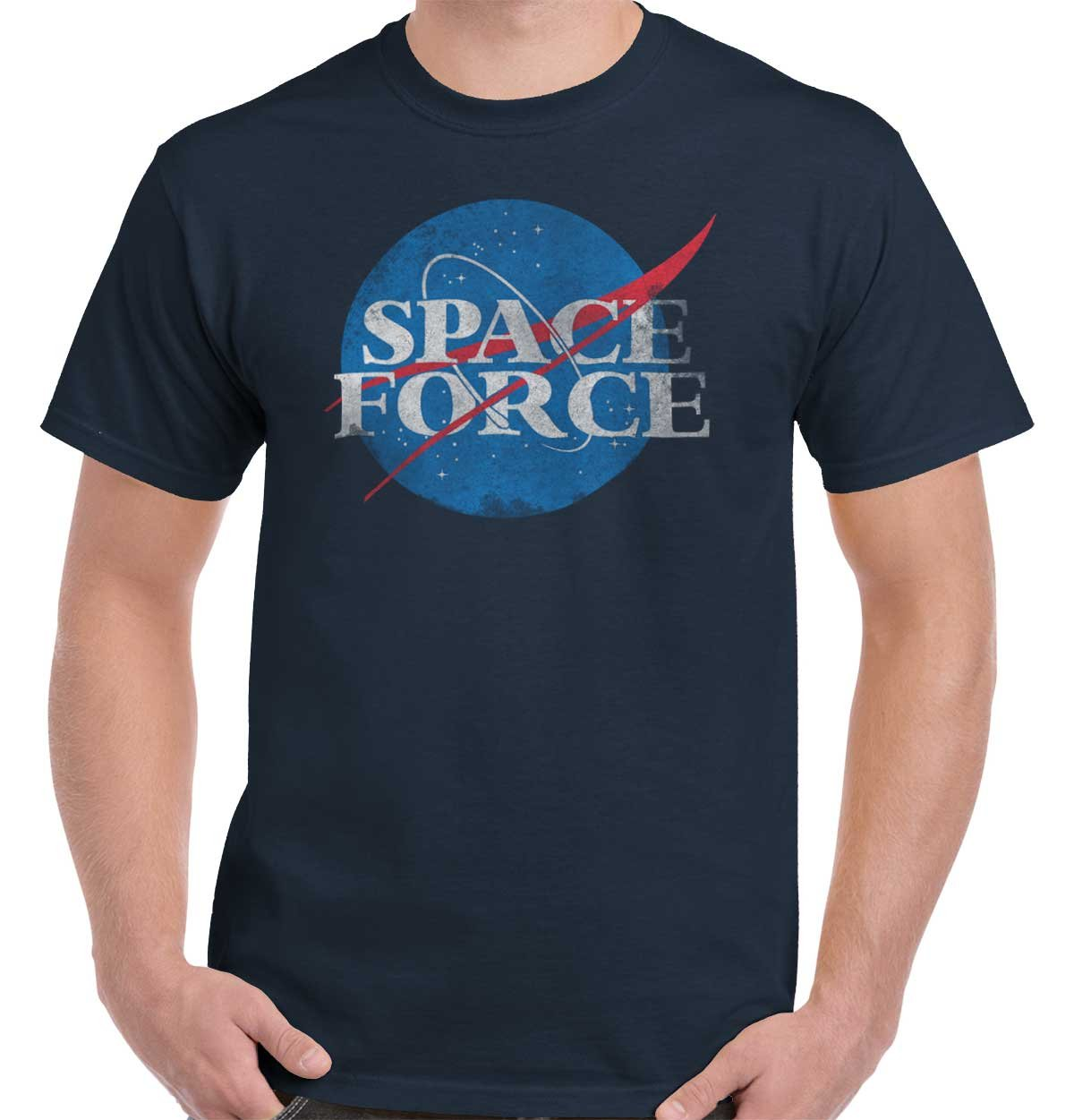 Space Force USSF Donald Trump United States Yuge Military USA T Shirt Tee