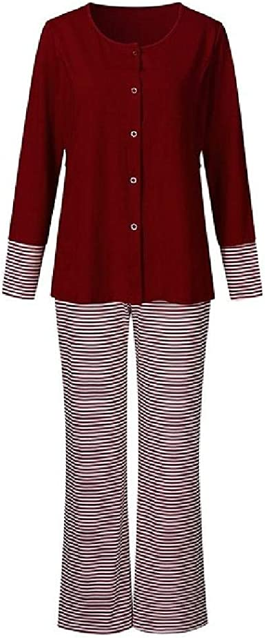 Conjunto de Pijamas de enfermería Camisón de Invierno para ...
