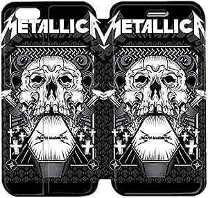 Cuero del tirón de la cubierta del Funda de la PU para el Funda iPhone 6 Caja del teléfono celular de 4,7 pulgadas Funda de cuero Metallica 00 O3S8TV Funda iPhone protector duro