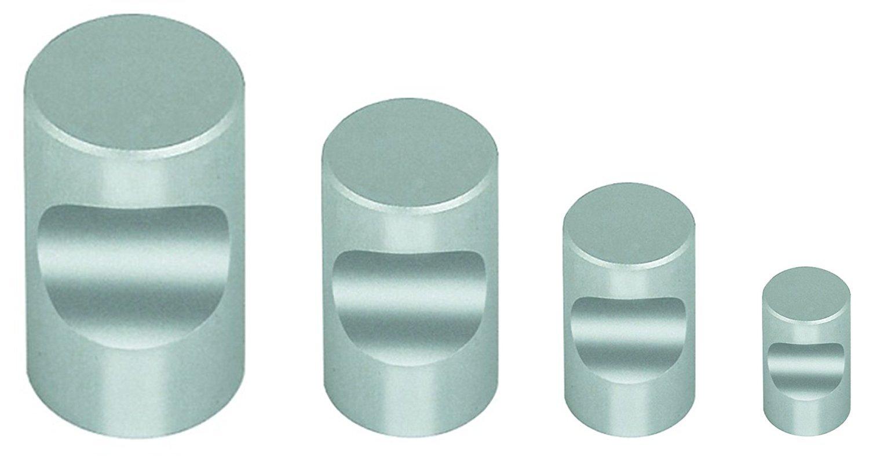 Gedotec Moderner Design Schubladenknopf M/öbelknopf T/ürknopf rund Modell Lena Aluminium Natur eloxiert H/öhe 20 mm M/öbelbeschl/äge /Ø 12 mm Vollmaterial MASSIV 1 St/ück