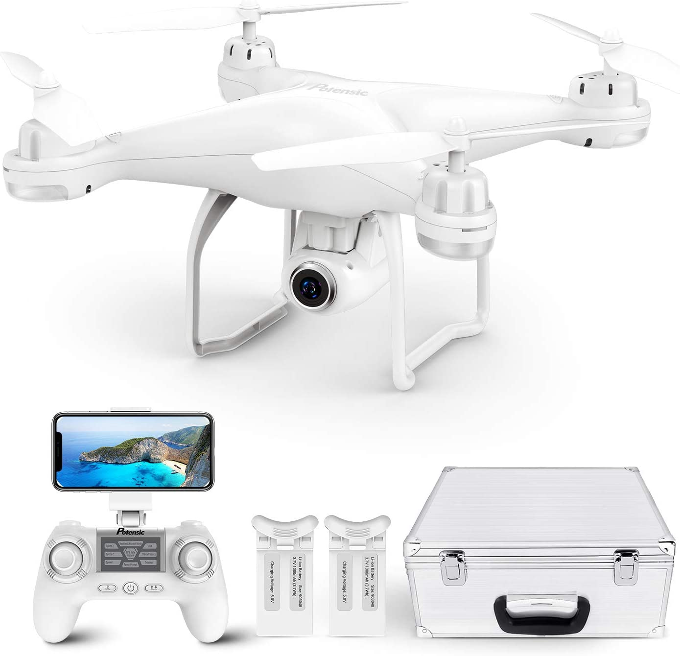 Potensic T25 GPS Drone, FPV RC Drone with Camera 1080P HD WiFi Live Video, Auto Return Home, Altitude Hold