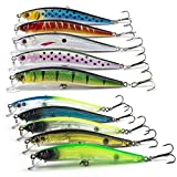 WALLER PAA New Lot 10pcs Kinds of Fishing Lures Crankbaits Hooks Minnow Baits Tackle Crank