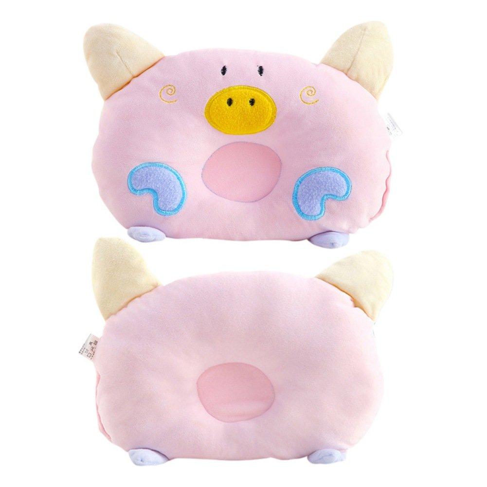 Minuya oreiller bebe anti tete plate-Trois coloris-Oreiller de cochon dessin anim/é mignon
