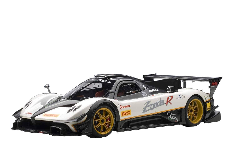 Pagani Zonda R EVO Evolution Carbon Fiber / White 1/18 by Autoart 78271