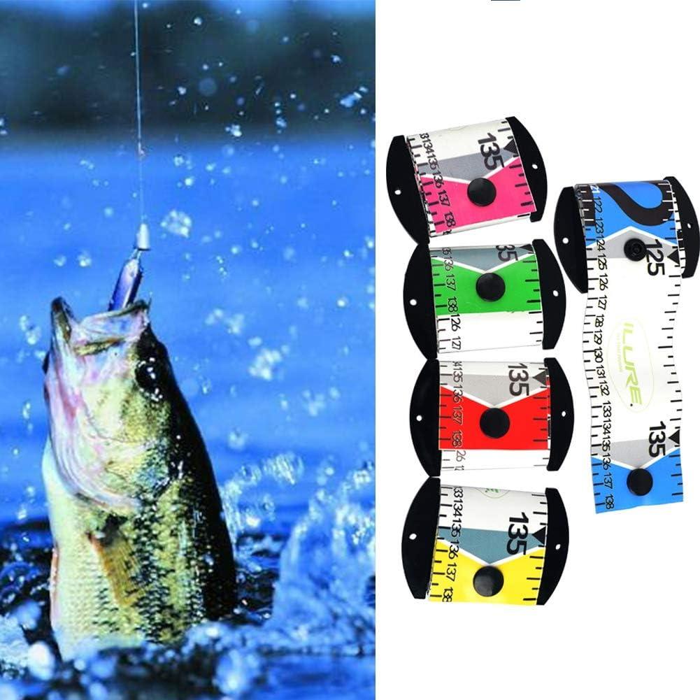 Savlot Angeln Lineal Messung wasserdicht Fisch Messlineal genaue Fisch Ma/ßband PVC Angeln Lineal Messger/ät Werkzeug 138 cm x 5 cm Fishing Ruler Measurement