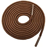 YFINE 31.5' Inch Round Waxed Dress Shoes Shoelaces Boots Shoe Laces Light Brown (2 Pair)