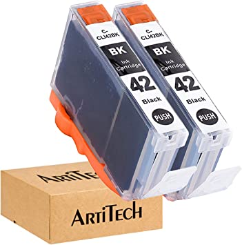 4 Pack Smart Print Supplies Compatible CLI42 CLI42-BK Black Ink Cartridge Replacement for Canon Pixma PRO-100 Printers