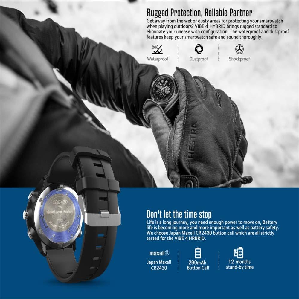 LARDOO IP67 / 50M Resistente al Agua Vibe 4 HÍBRIDO Smartwatch ...