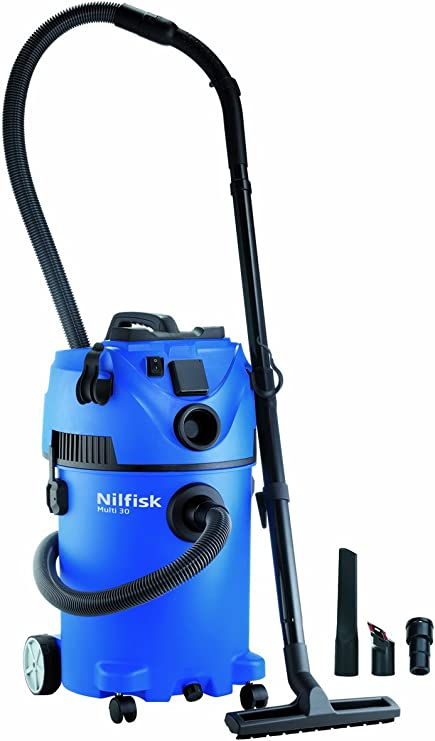 Nilfisk Multi 30 T Aspiradora en seco y húmedo, 30 litros, 66 Decibelios, Azul: Amazon.es: Hogar