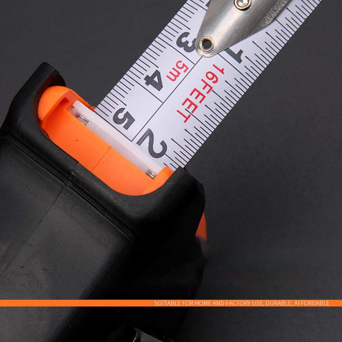 Steel Tape Measure 3 M 5 M 7.5 M Box Ruler Woodworking High Precision Measurement Tool Meter Ruler Double Scale MUZIWENJU Ruler Color : Black, Size : 3m