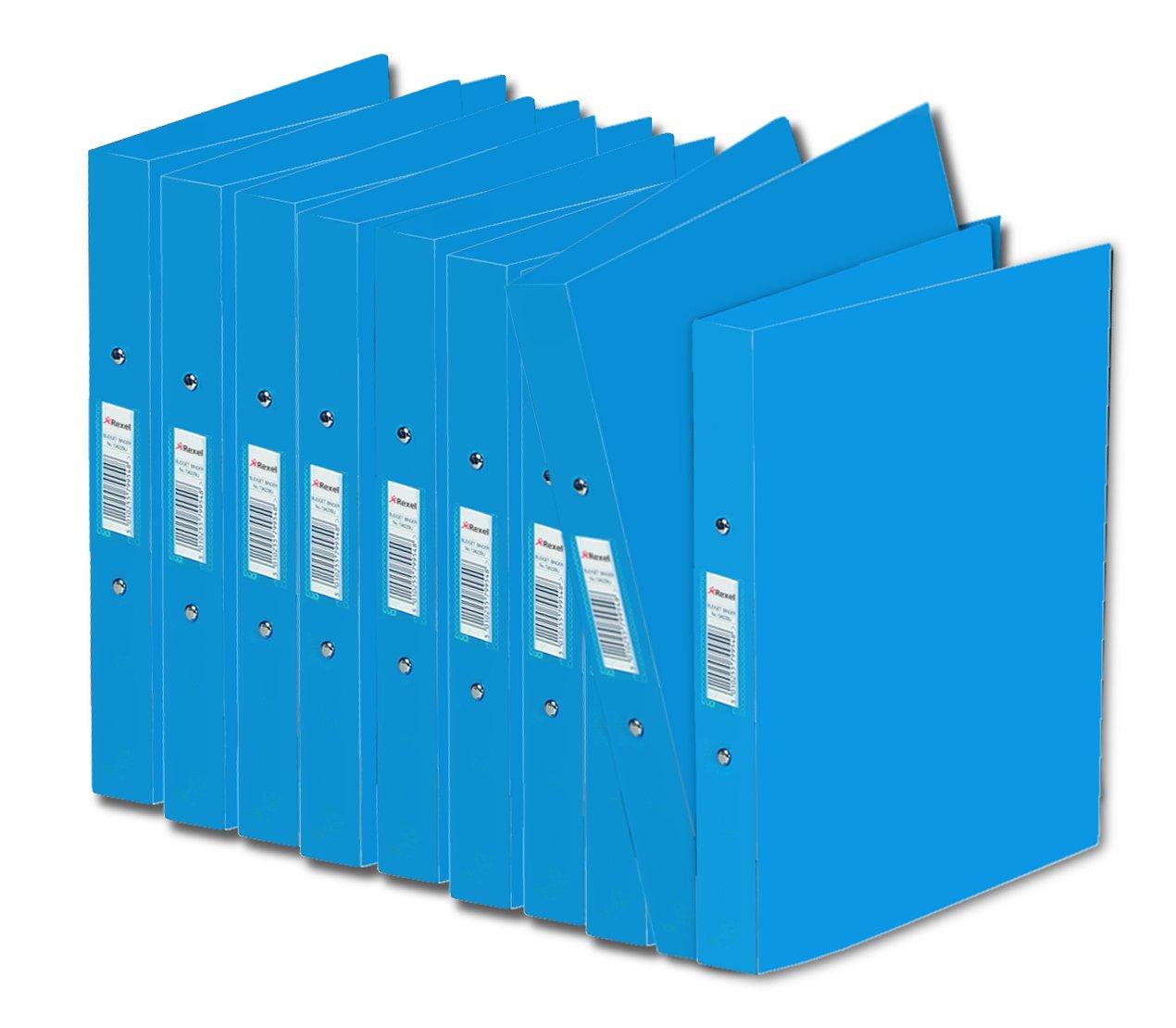 Rexel AZ13428BU - Carpeta de anillas A5, 10 unidades, azul: Amazon.es: Oficina y papelería