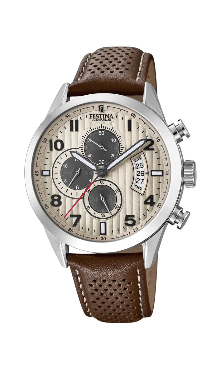 Men's Watch Festina - F20271/2 - Quartz - Chronograph - Date - Leather Band by Festina