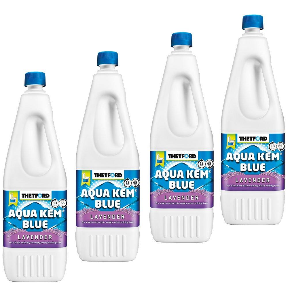 Thetford 4X Sanitärzusatz für Fäkalientank Aqua KEM Blau Lavender 2L mit Lavendelduft