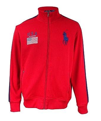 Polo Ralph Lauren Mens Big Pony Track Jacket (Medium, RL 2000 Red)