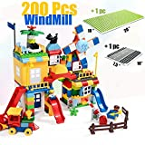 iPuzzle Educational ABS Building Block Creative Stacking Toys Windmill Farm Set 200pcs