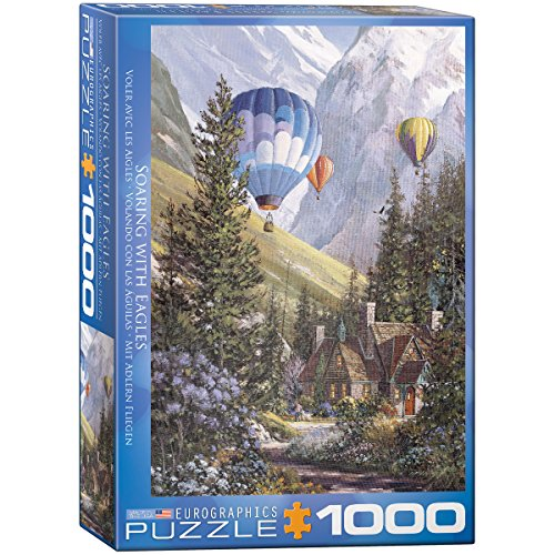 EuroGraphics Soaring with The Eagles Jigsaw Puzzle (1000-Piece) Cottage 1000pc Jigsaw Puzzle