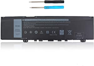 38WH Type F62G0 Battery Replacement for Dell Inspiron 13 5370 7373 7370 7380 7386 2-in-1 P83G P83G001 P83G002 P87G001 P83G002 P87G Vostro 13-5370-D1505G R1605S D1525S D1605S Series F62GO RPJC3 39DY5