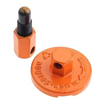 Hicello - Herramienta de desmontaje de embrague, herramienta de desmontaje de embrague, fácil dispositivo de motosierra, ayuda para el embrague de la sierra ...