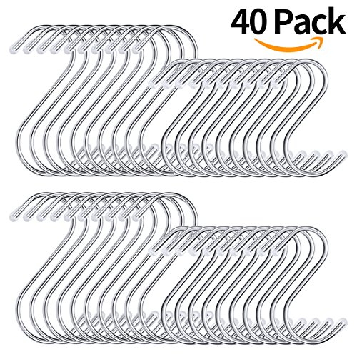 Metal S Hooks For Hanging 40 Pack, 2 (And S Metals)
