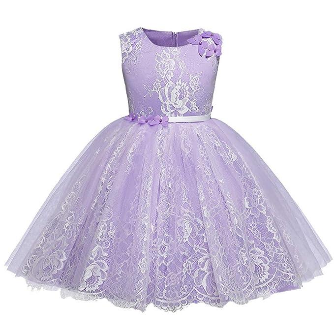 Cinnamou Vestido de Princesa para Niñas Tutú Vestido de Fiesta Elegantes Malla Disfraces en Cierre de Cremallera para Bebes: Amazon.es: Ropa y accesorios