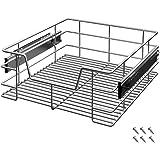 tiroir t lescopique 50 cm en m tal chrom cuisine maison. Black Bedroom Furniture Sets. Home Design Ideas