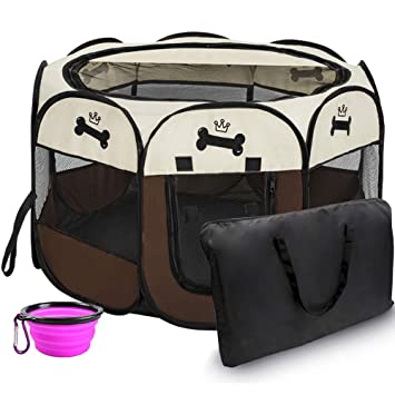 Amazon.com: Hepeng - Caseta plegable portátil para mascotas ...