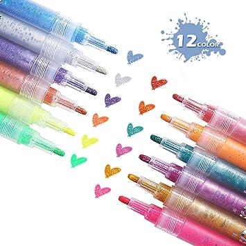 Rotuladores para Pizarra, ARINO Pintar Rotuladores, Rotuladores y subrayadores de colores, Pinceles de Pintura, Rotuladores de tela Ideal para el ...